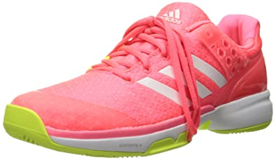 adidas Women s Adizero Ubersonic 2 w Tennis Shoe Flash Red  White Electricity 10.5 ... fe4c66bf5