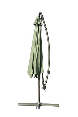 Camelot - Funda sombrilla en voladizo de 3 M, color verde: Amazon.es ...