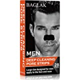 BAGLAK Blackhead Remover Pore Strips , 28 Men Charcoal Nose Strips for Blackhead Removal Oily Skin