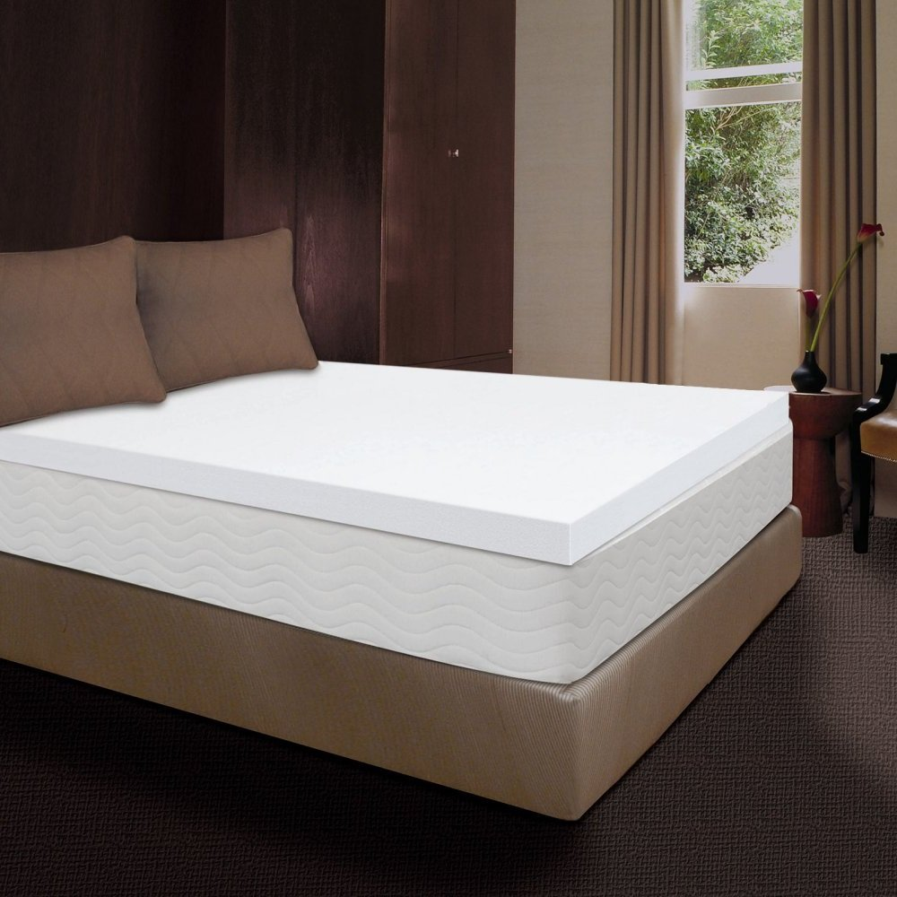 Mattress Pad. Comfort Orthopedic Soft Memory Foam 3'' Topper Pillow For Deep Healthy Sleep & Back Support. Firm Protection Cover, Extra Lair Protects Bed From Dirt, Dust & Wetness. (Cal King)