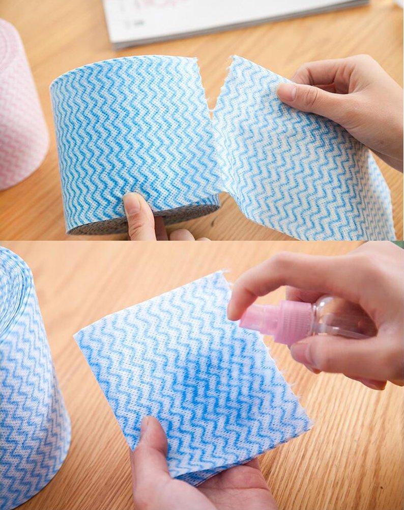1 rollo (20 metros) desechables lavado de cara toalla maquillaje soplo almohadillas de algodón suave limpieza profunda papel limpiador cosmético esmalte de ...