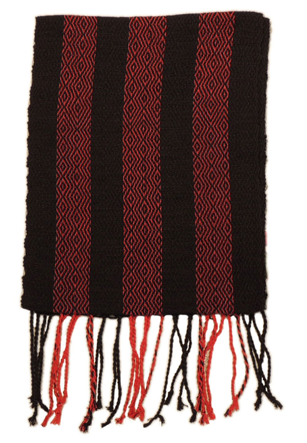 #4417 Hand Loomed Striped Alpaca Scarf Two Pack Assortment Artisan Peru Designer
