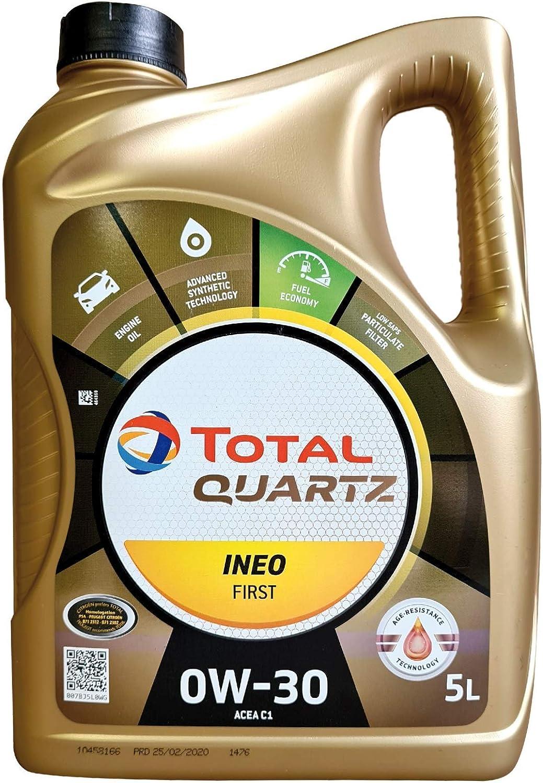 Total Quartz Ineo Primera 0 W-30 Totalmente sintético Low SAPS Coche Aceite de Motor, 5 L: Amazon.es: Coche y moto