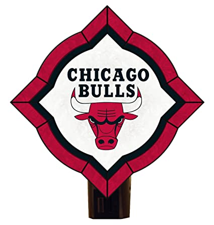 Amazon.com: NBA Chicago Bulls clásico Art Glass Nightlight ...