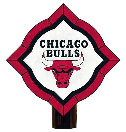 Amazon.com: NBA Chicago Bulls clásico Art Glass Nightlight ...