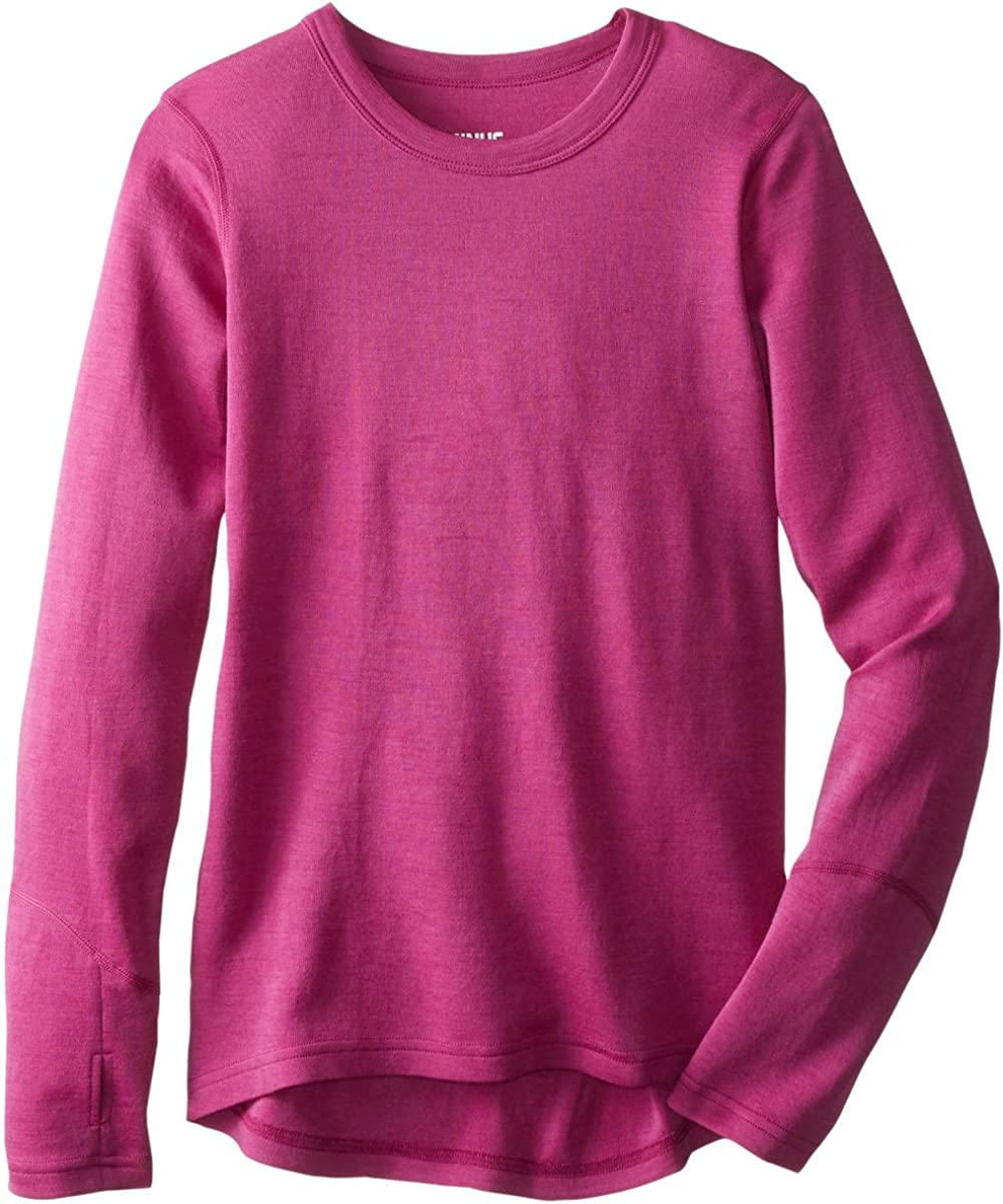 Minus33 Merino Wool 5700 Lilly Girls Midweight Crew - Anti Odor No Itch Renewable Fabric