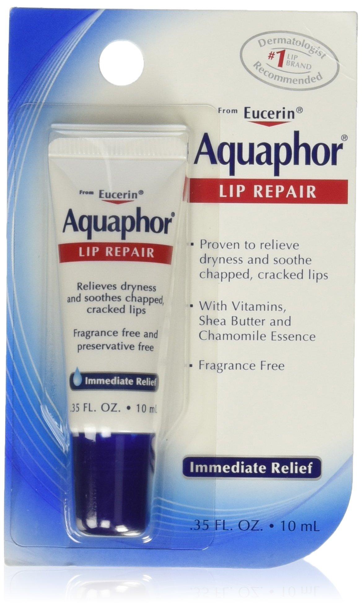 Aquaphor Lip Repair, 0.35 Ounce (Pack of 6)