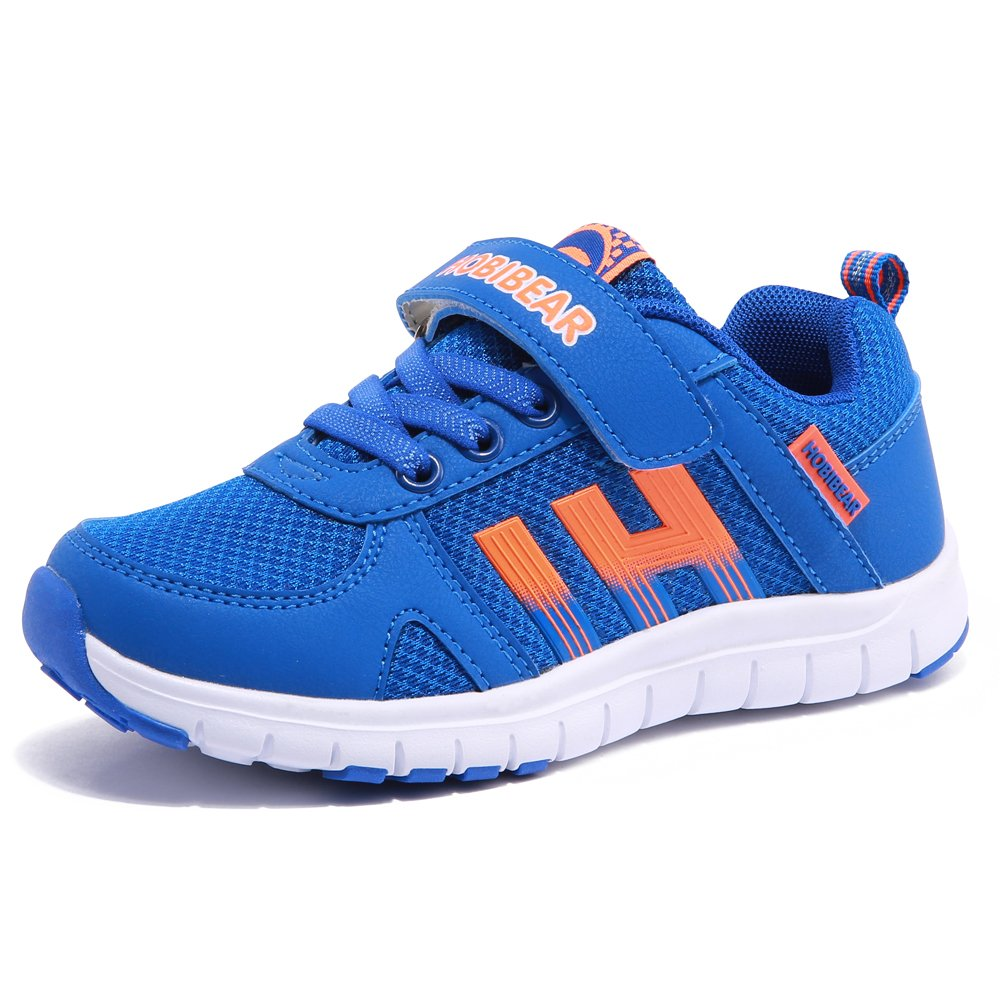HOBIBEAR Boys' Girls' Mesh Running Sneakers AS3337(5,Blue)