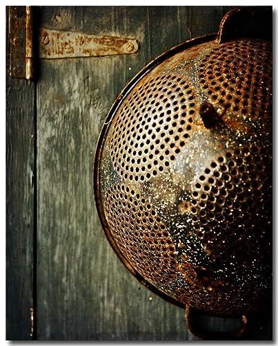 Amazon.com: Vintage Antique Colander Kitchen Decor ...