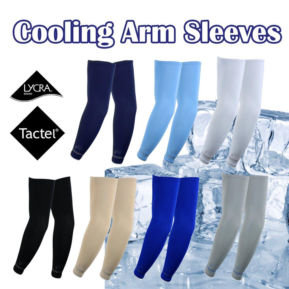The Elixir Golf, Naska Arm Sleeves 2 pairs bundle pack , UV Protect Arm cooling sleeves