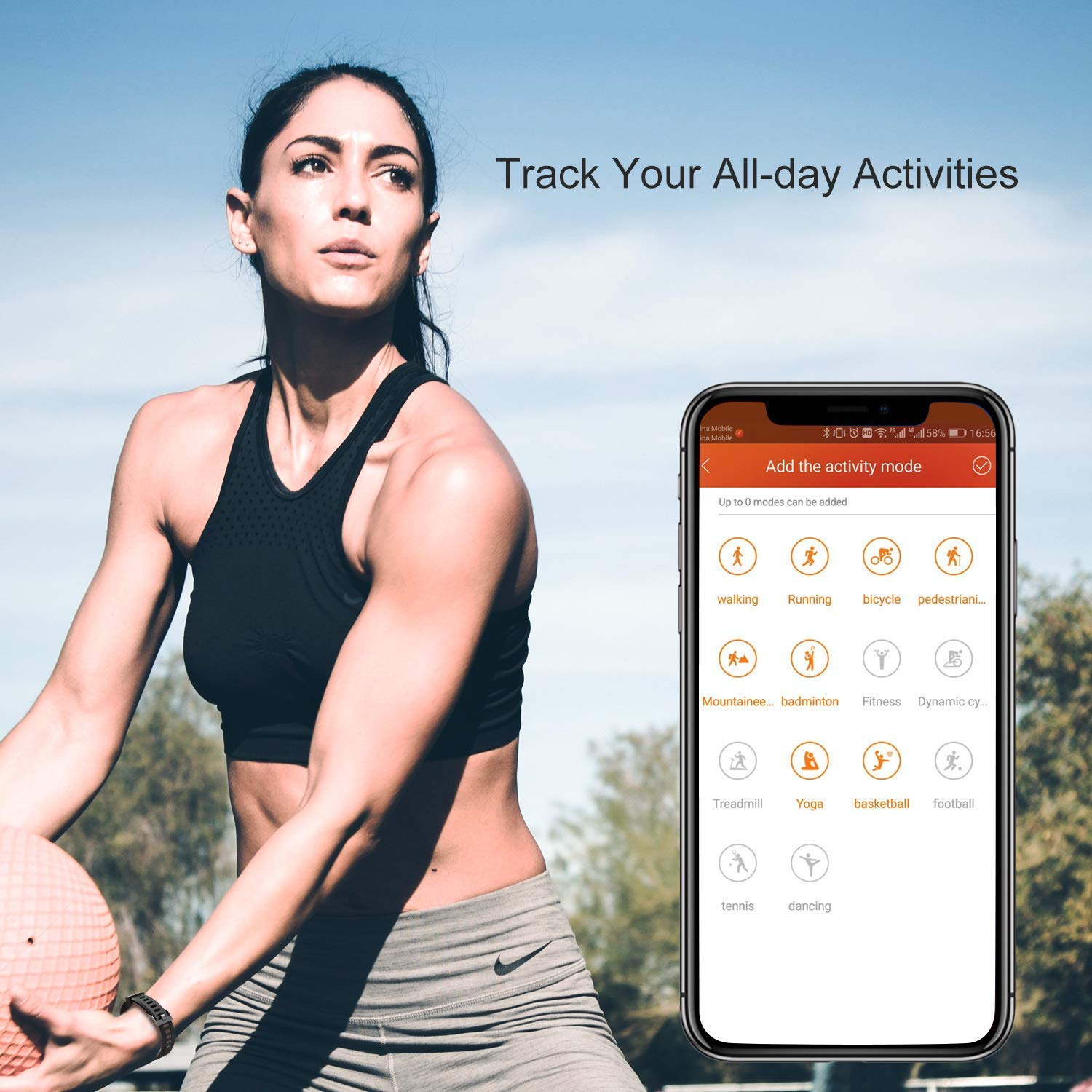 Muzili Fitness Tracker YG3 Plus App