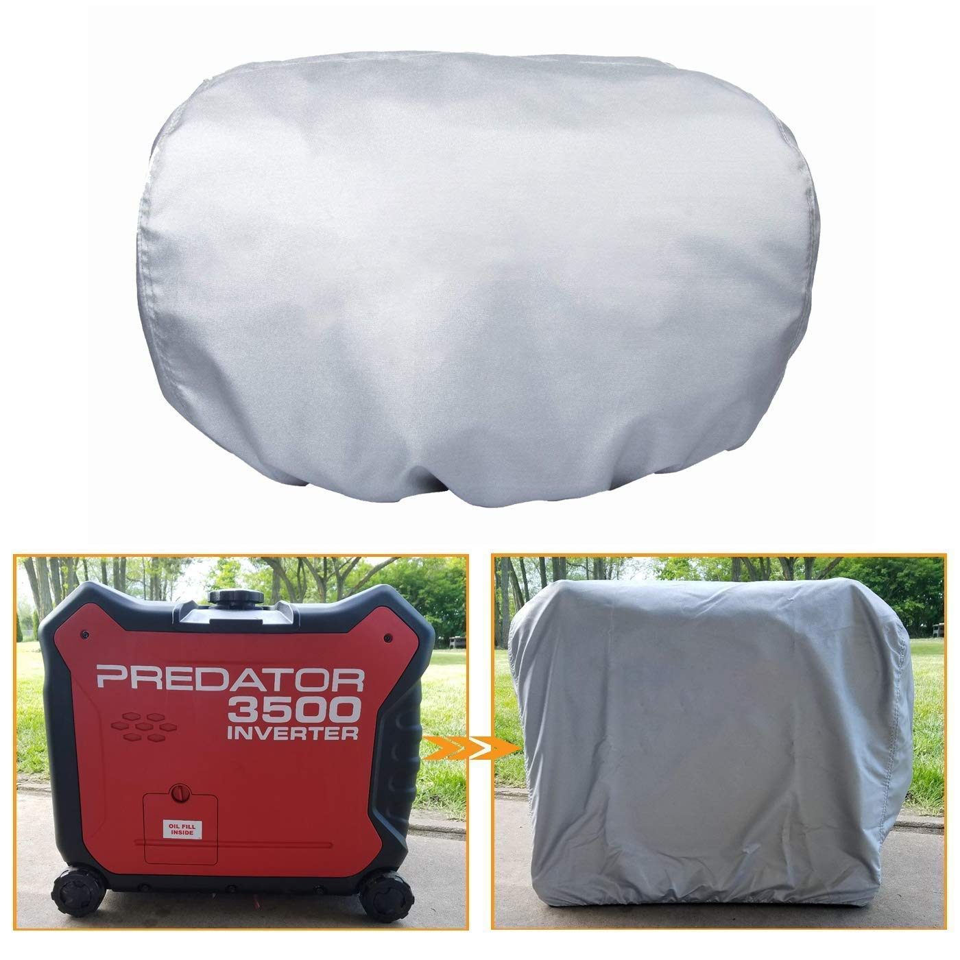 Matler Generator Cover for Honda EU3000is & Predator 3500, All Season Outdoor Storage Cover,Protect Against Dust, Debris, Rain Weather by Matler