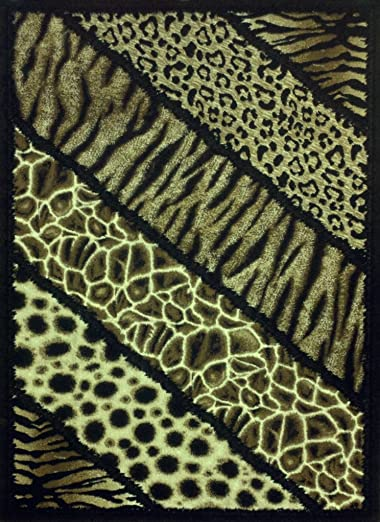 Animal Prints Area Rug 8 Feet X 10 Feet Design 75