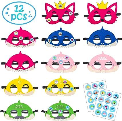 Amazon.com: MALLMALL6 - Juego de 12 máscaras de tiburón para ...