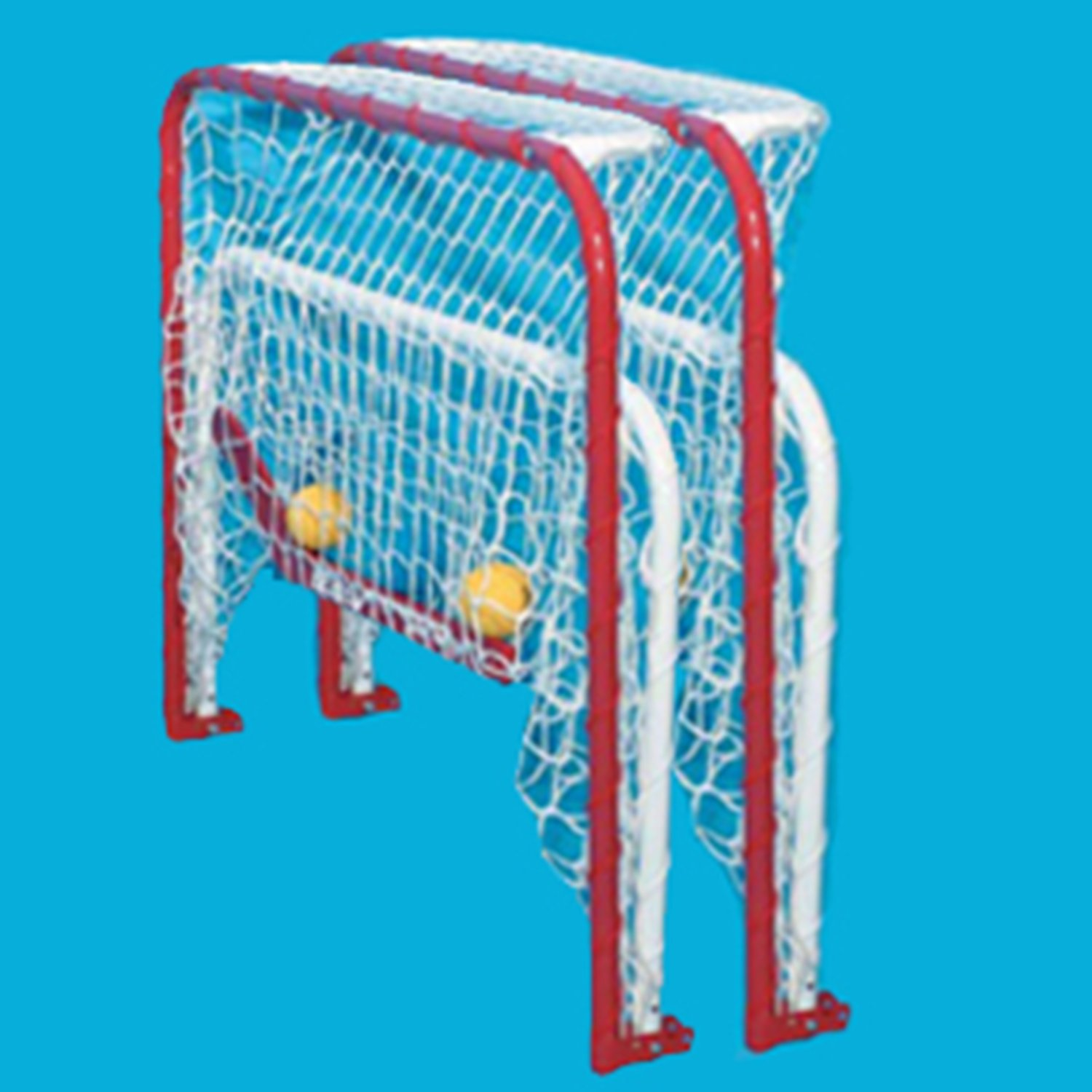 EZGoal Double Mini Folding Goal, Red/White by EZGoal (Image #3)