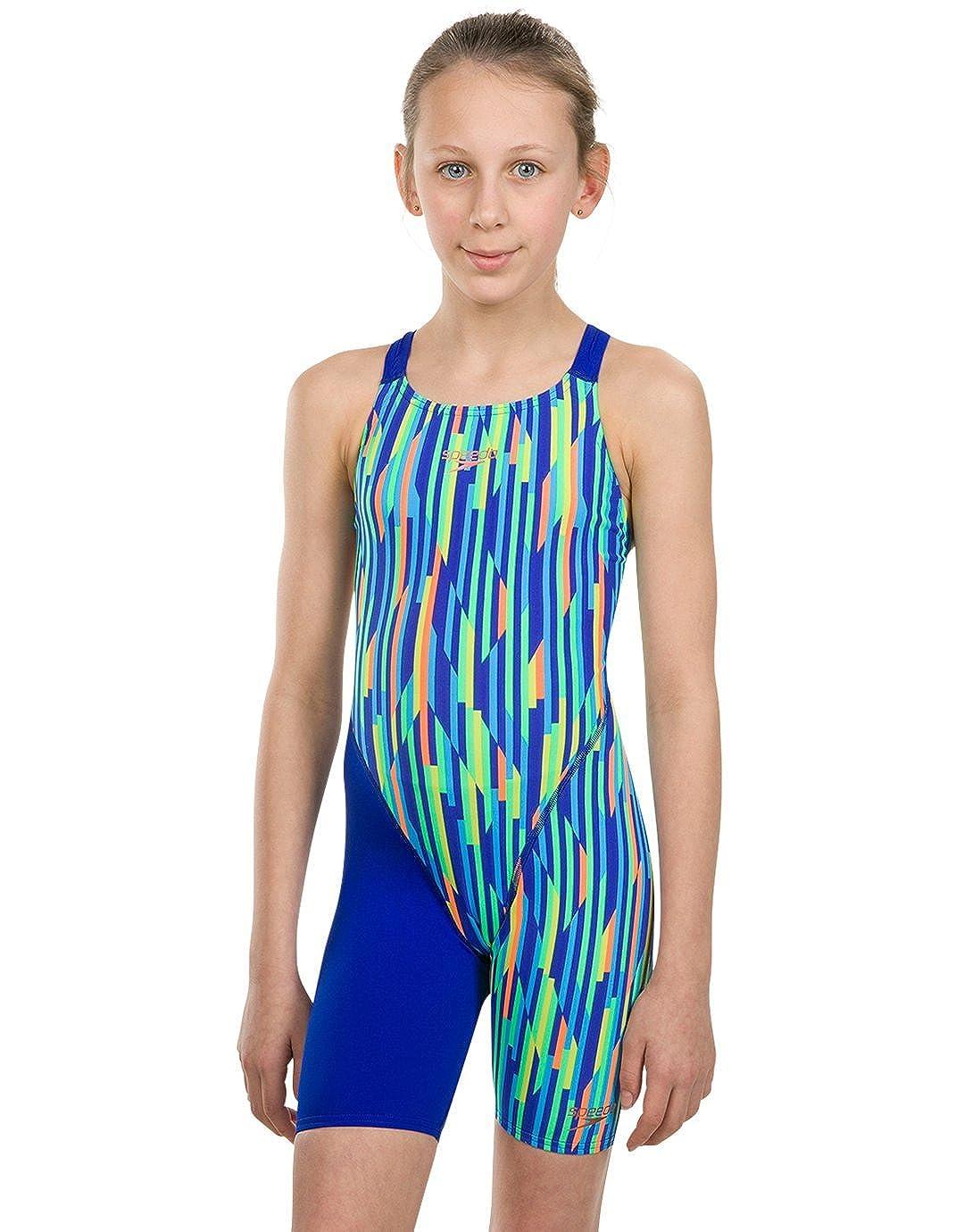 Speedo Girls Fastskin Endurance Openback Kneeskin Swimsuit