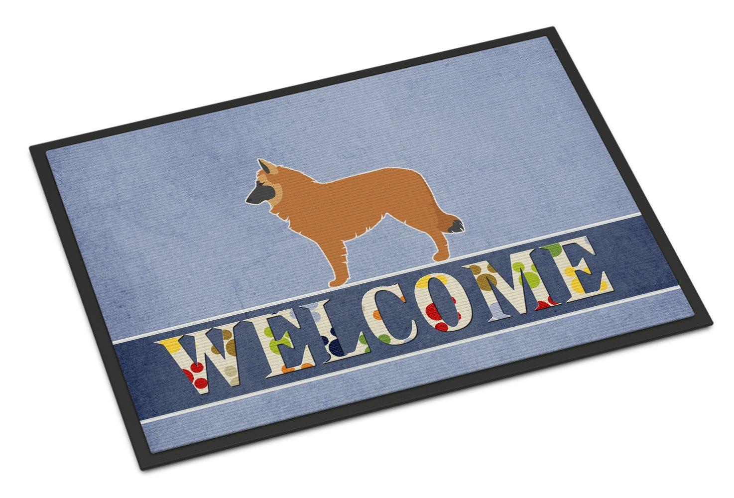 Carolines Treasures Pomeranian Welcome Doormat 18 x 27 Multicolor