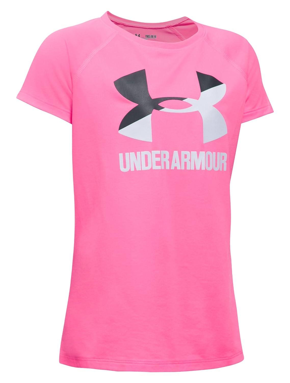 Under Armour, Camiseta de Manga Corta con Logotipo para niñas