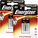Energizer Original Batterie Ultra Plus E-Block (9 Volt, 2x 1-er Pack)