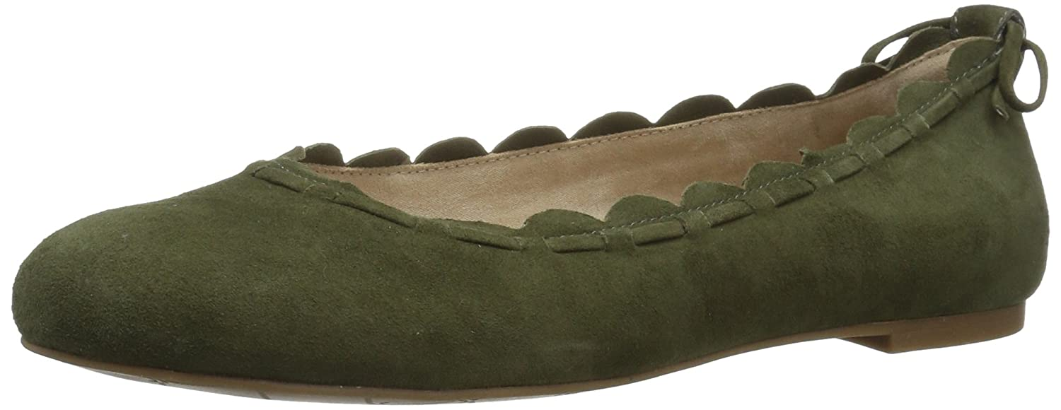 Jack Rogers Women's Lucie Suede Ballet Flat B01MY12A0R 10 B(M) US|Olive Suede