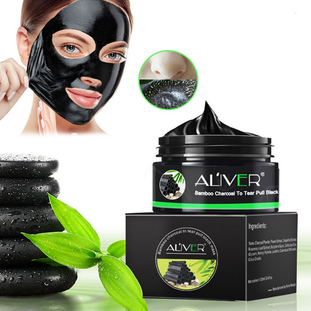 Blackhead Remover Black Mask, Face Purifying Peel Off Activated Charcoal Mask Deep Facial Cleansing Pores & Acne -4.8oz niceEshop