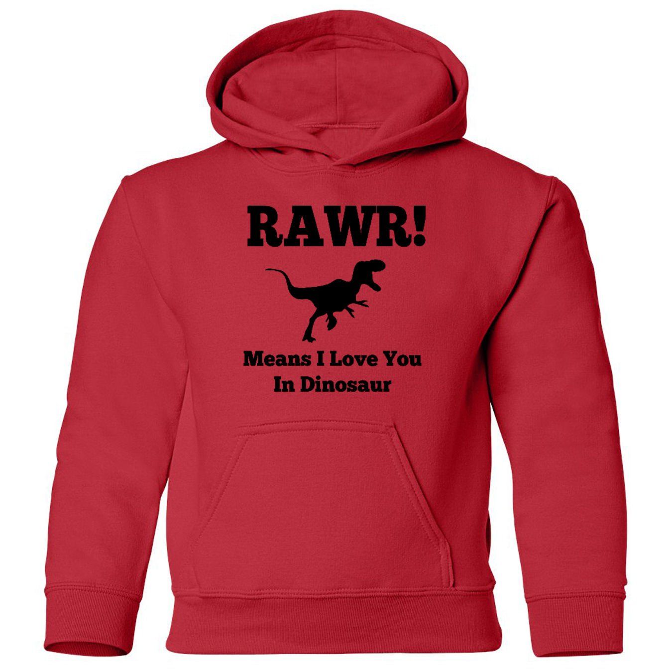Mashed Clothing RAWR Means Love You In Dinosaur Funny Toddler Hooded Sweatshirt