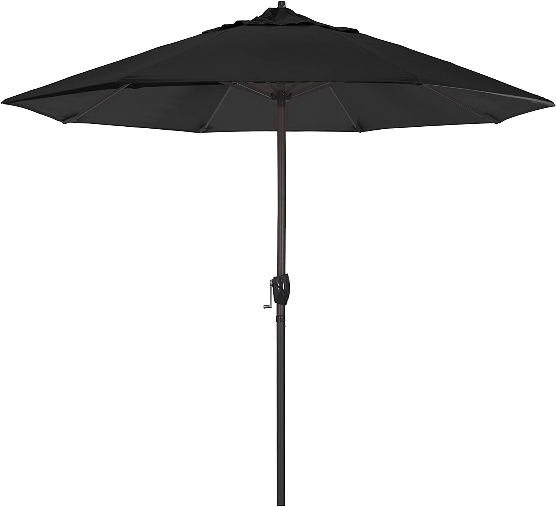 ABCCANOPY Patio Umbrella Ourdoor Solar Umbrella LED Umbrellas with 32LED Lights, Tilt and Crank Table Umbrellas for Garden, Deck, Backyard and Pool,12 Colors, Tan