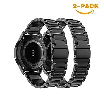 YaYuu Gear S3 Frontier/Classic Banda Pulseras de Repuesto, 22mm Acero Inoxidable Metal Correa de Reloj Pulsera para Samsung Galaxy Watch 46mm/Gear S3 ...