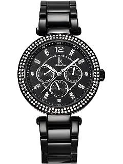 Armbanduhr damen schwarz metall