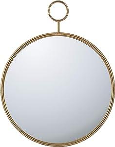 A&B Home Gold-Framed Décor Wall Mirror, Dimensions: 26.4L x 1.8W x 32.3H Inches
