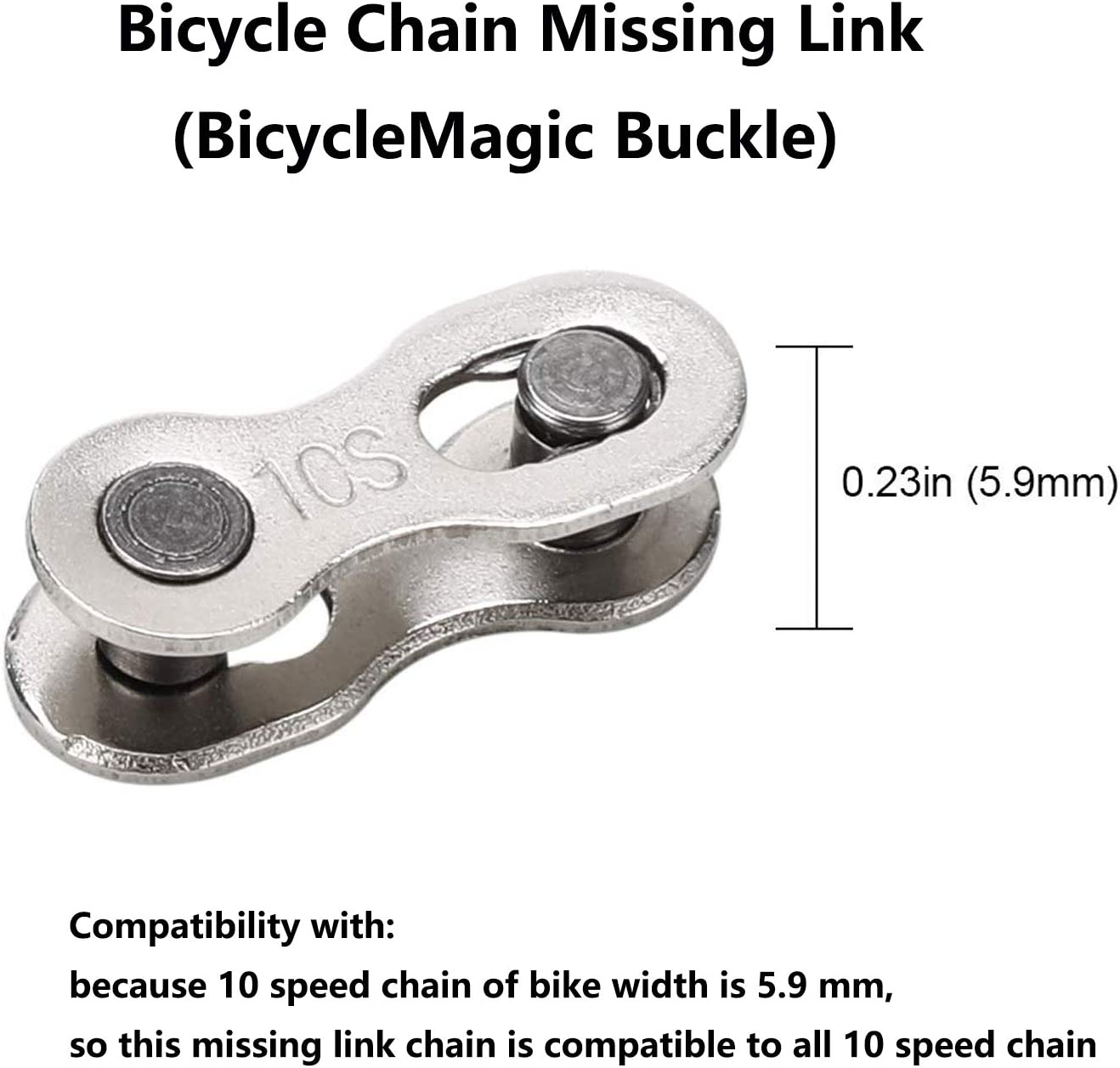 REUSABLE QUICK LINK REDUCED *FREE UK P+P* 2 PAIRS x 10 SPEED CHAIN LINK