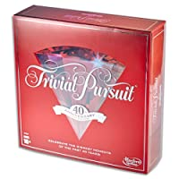 Trivial Pursuit - 40th Anniversary Ruby Edition - Adult Family Board Game - Ages 16+