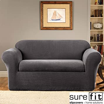 Metro Shop Stretch Metro Two Piece Grey Sofa Slipcover Amazon