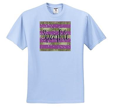 2c34e55f Amazon.com: PS Inspiration - Pink Gold Stripes Confetti Sparkle - T ...