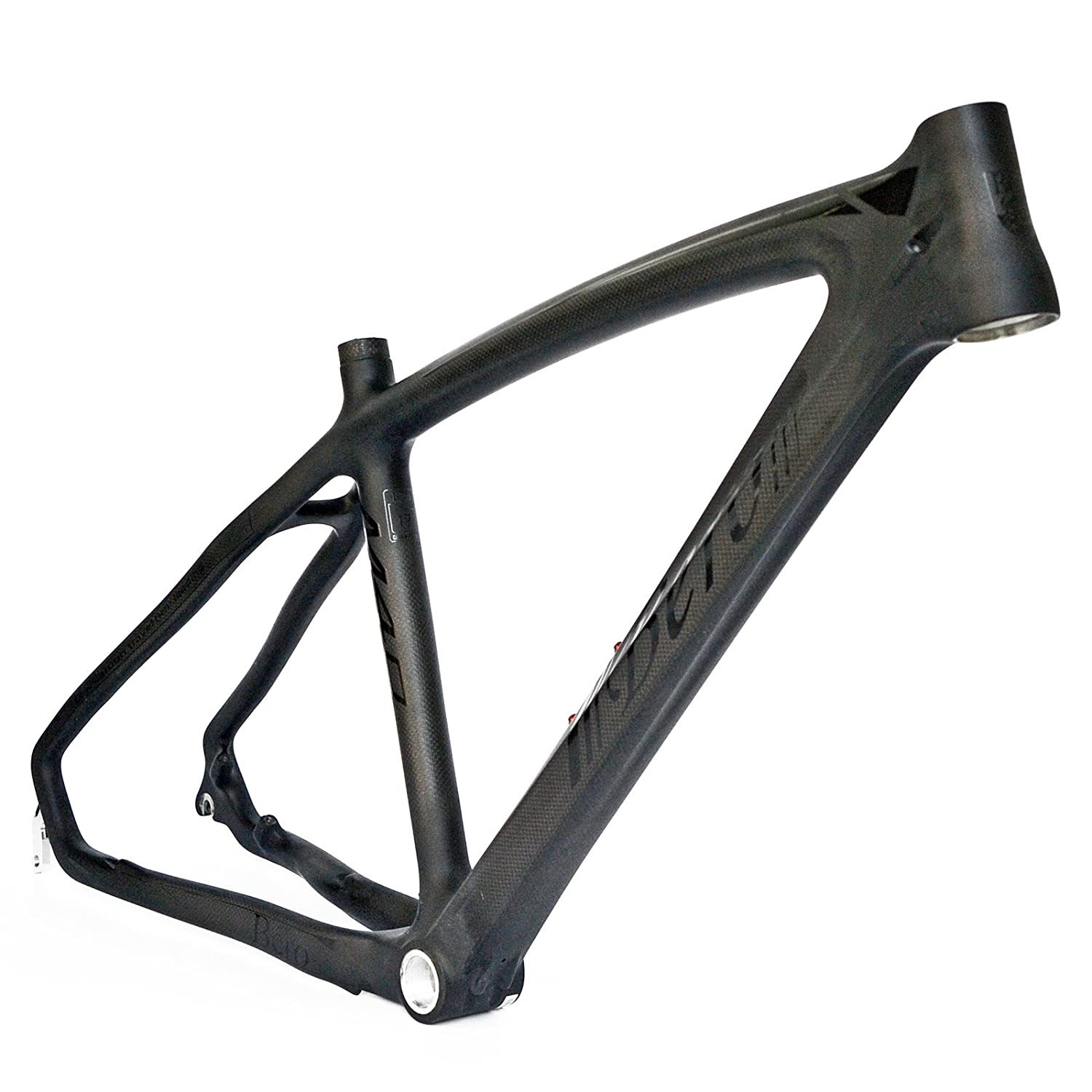 beiou 3k carbon fiber mountain bike frame t800 ultralight 26 inch mtb matte black unibody internal cable routing b024ax
