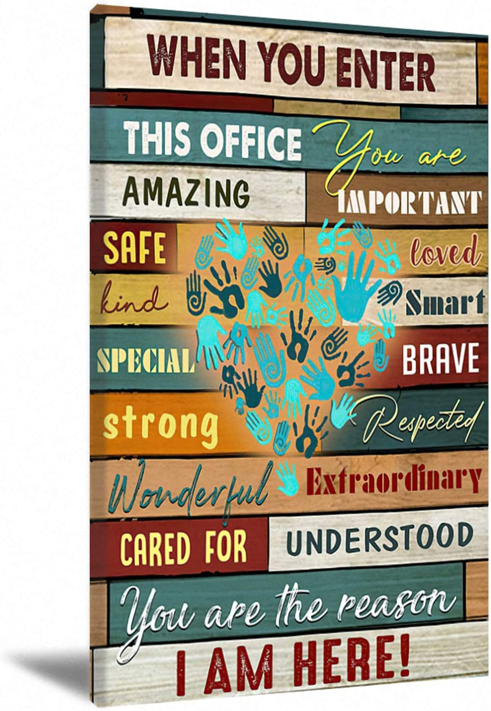 When You Enter Office Inspirational Wall Art Canvas For Office Motivational Quotes Wall Decor In This Office Canvas Wall Art For Office Quotes Canvas Art Wall Decor Office 16X24Inch Frameless