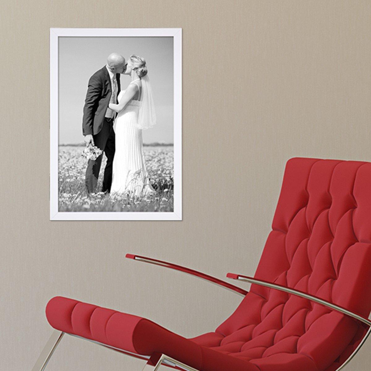 Amazon.de: PHOTOLINI Bilderrahmen 30x42 cm/Din A3 Weiss Modern aus ...