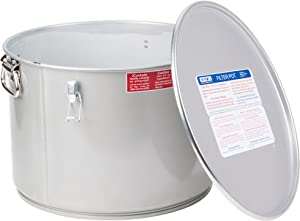 MirOil 60L Grease Bucket & Oil Filter Pot, GasketSafety Lid with Quick Lock Clips, For Fryer Oil Capacity Up to 55 lbs. Low Profile To Fit Under Drain Valves, For Filtering of Hot Oil