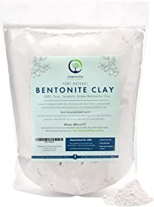 Essential Living: Bentonite Clay Powder - All-Natural DIY Skin Care Facial Mask for Deep Cleansing, Acne and Chapped Skin - 2 lbs. - Suitable for All Skin Types - No Additives - Cosmetic Grade