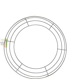 FLORAL GARDEN; Resistant (14Inch) Metal Wreath Ring 1 Piece, Circle Metal Wire Ring, Great for Spring Decorations, Christmas, Valentine's Day, St Patrick's Day, Halloween, Memorial Day (Green)
