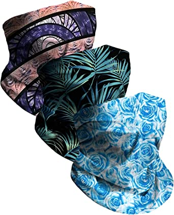 Details about  /Breathable Face Scarf Multi-Purpose Bandana Neck Gaiter Starry Sky Animals Print