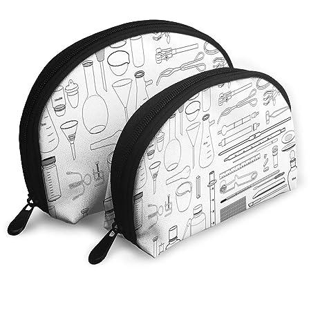 Amazon Com Makeup Bag Lab Equipment For Chemistry Handy Half Moon