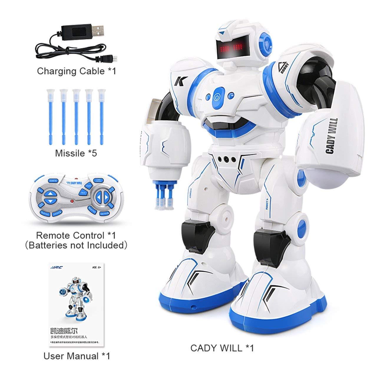 Jasnyfall RC Roboter Programmierbare Defender Intelligent Tanzen Musical Spielzeug-Kind-Geschenk Blau