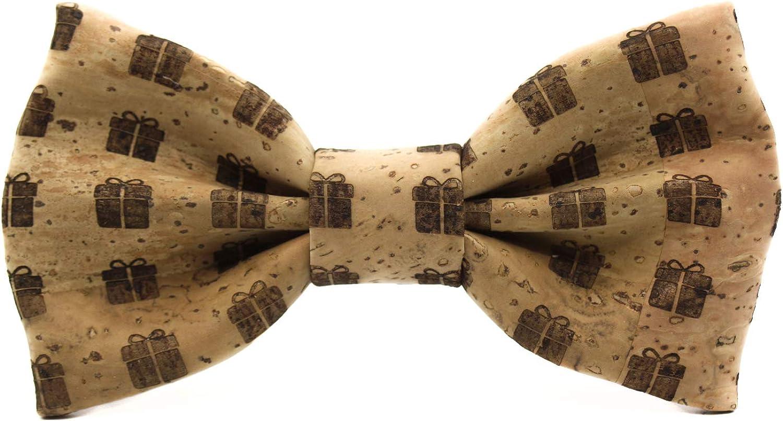 Pajarita de corcho Gift. Colección de moda hombre: línea boda y eventos. Diseño de caja de regalo. Confeccionada a mano en España, elegante y original