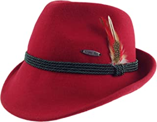 Austrian /& German Style Alpine Tyrolean Wool Hat with Feather /& Rope by E.H.G.
