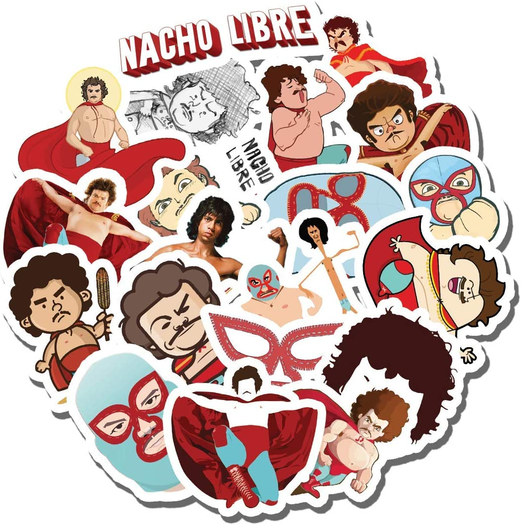 20 PCS Stickers Pack Nacho Aesthetic Libre Vinyl Colorful Waterproof for Water Bottle Laptop Scrapbooking Luggage Guitar Skateboard