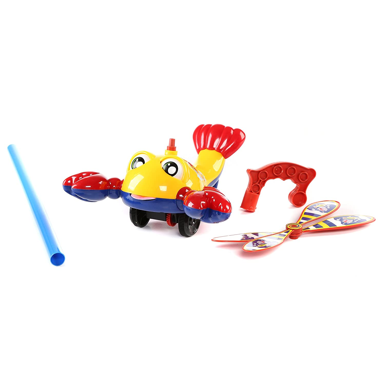 Pushing Toy for Kids Outdoor Push Toys and Party Prizes Push Around Toy for Baptism 1 Pc 10 inches Lobster Push Toy Classic Push and Pull Toys Birthday Fun Central BC903