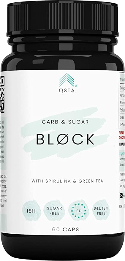 Keto Actives Carb & Sugar BLOCK 4000mg (60 CAPS) - Bloqueador de Hidratos & Azucar + Proteccion Aumento de Peso - Compañero perfecto para toda dieta y ...