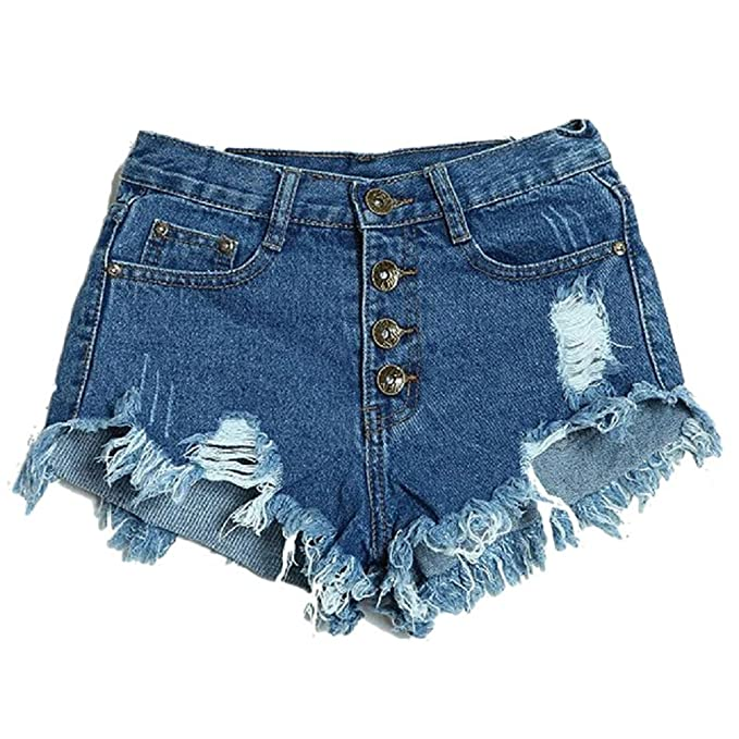 Ularma 2016 Mujeres Moda Slim Fit diámetro Agujero del Dril de algodón  Pantalones Cortos Pantalones ( 074c259e67bc