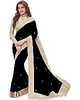 Vinayak Trendz Saree sale Women's Chiffon Sarees With Blouse Piece Sari(Priya sky)